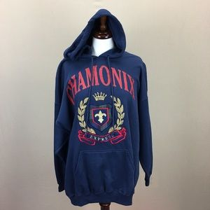 VTG NWT 1990's Express Hooded Sweatshirt Chamonix